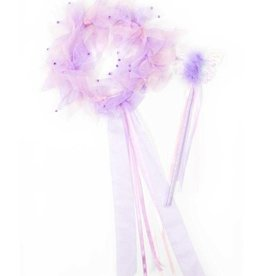 Little Adventures Light Pink/Lilac Fairy Halo & Wand