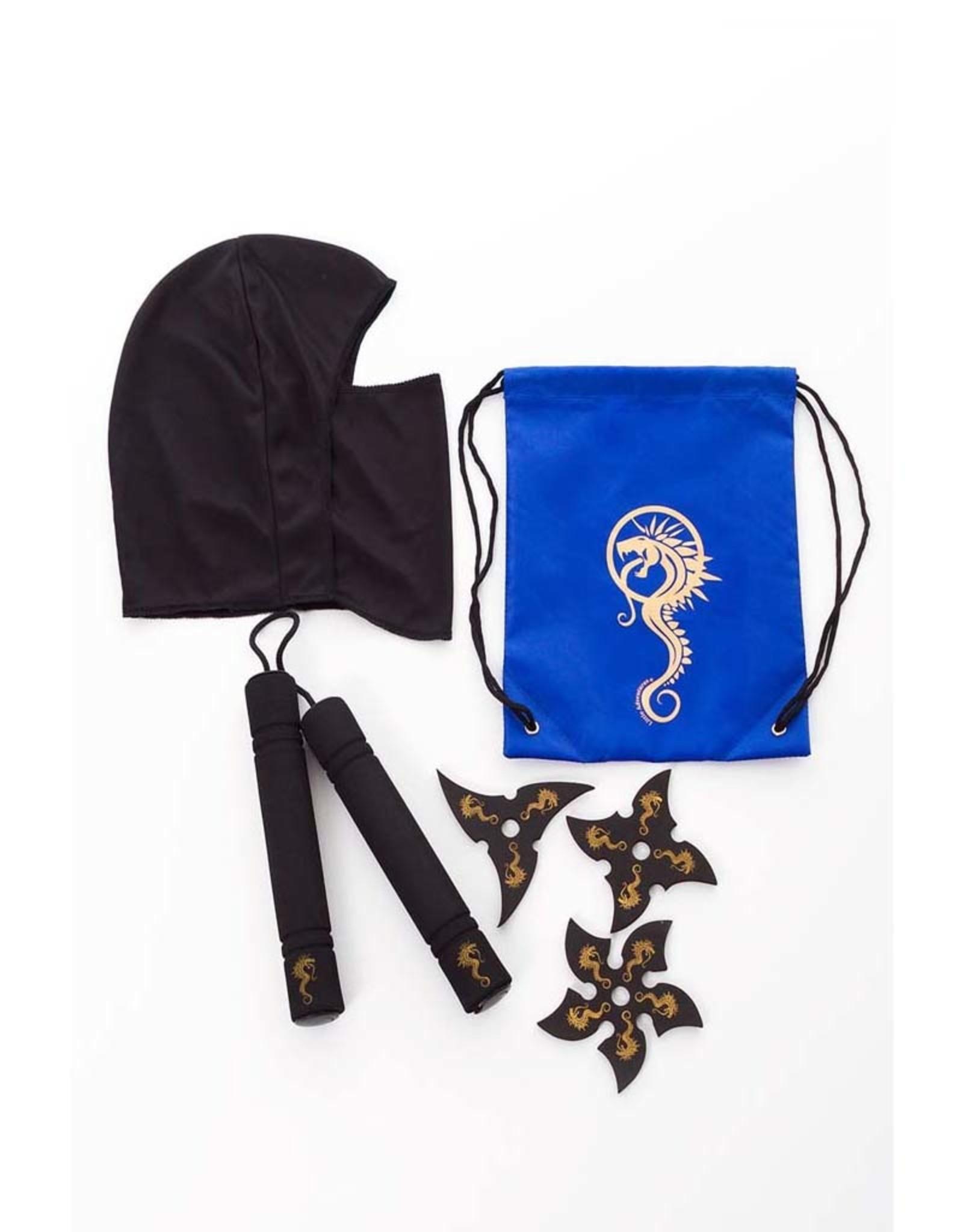 Little Adventures Drawsting Backpack Ninja Gift Set