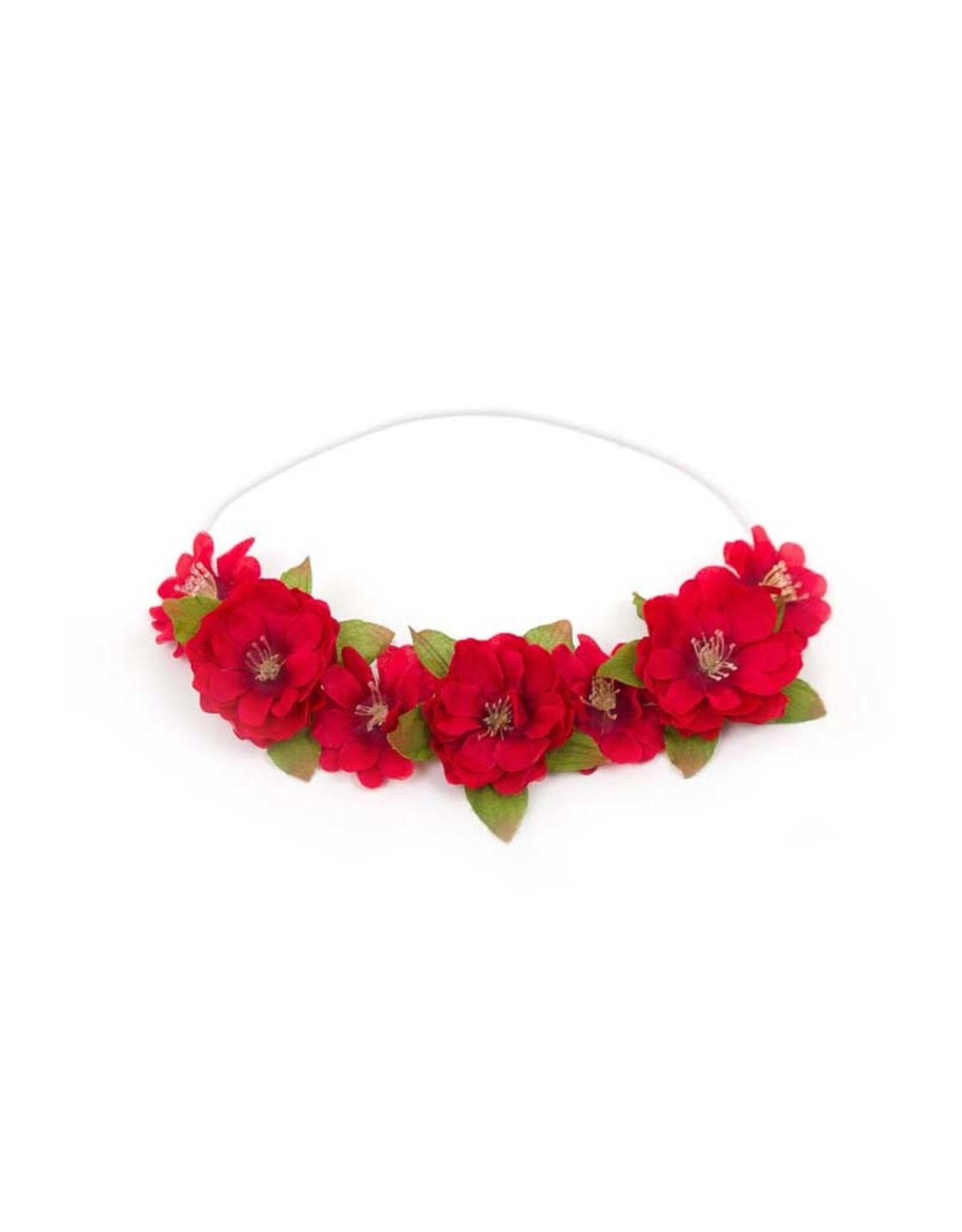 Little Adventures Ruby Red Flower Headband