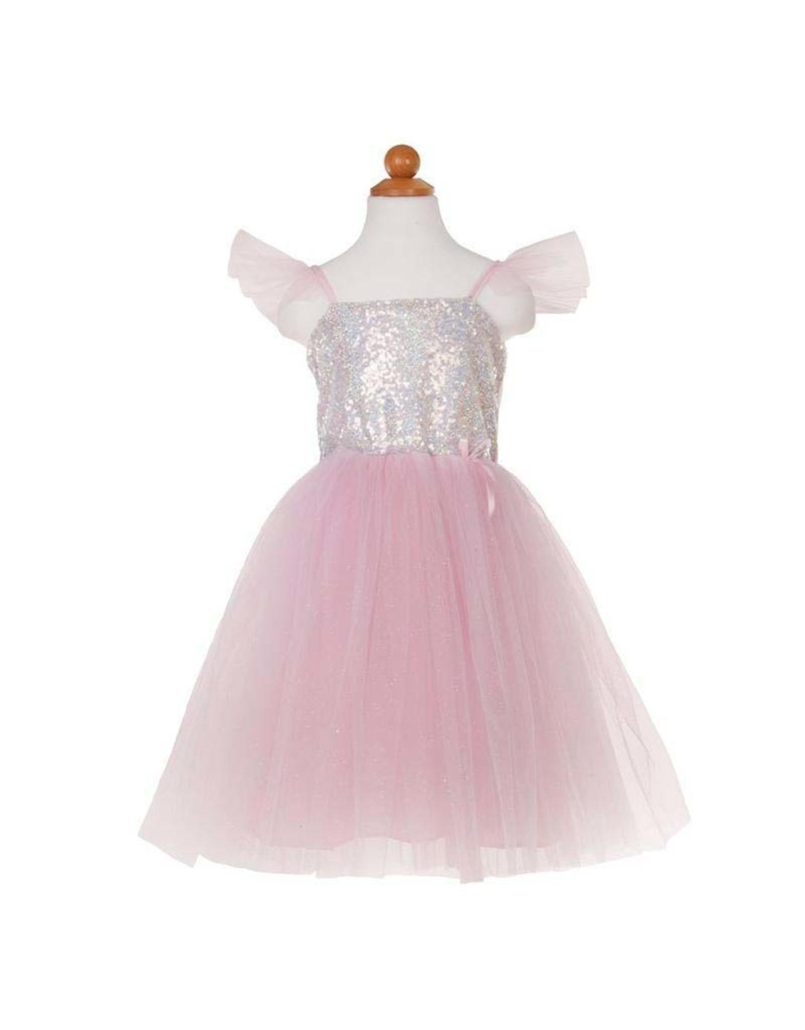 Great Pretenders Silver Sequins Princess Dress Size 7-8
