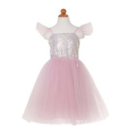 Great Pretenders Silver Sequins Princess Dress Size 7-8