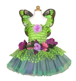Great Pretenders Fairy Blooms Deluxe Dress Green w/Wings 5/6