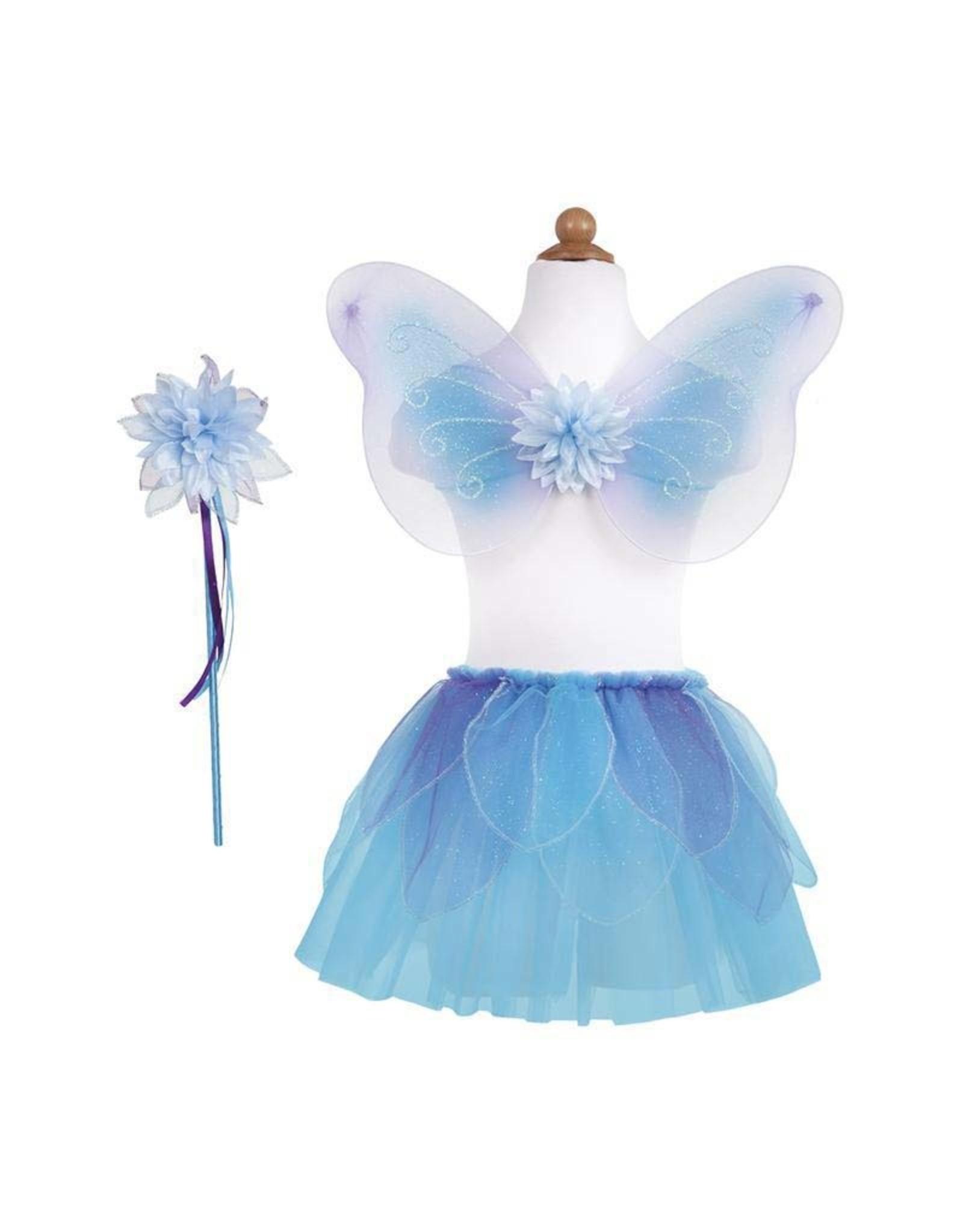 Great Pretenders Fancy Flutter Skirt with Wings & Wand, Blue, Size 4-7
