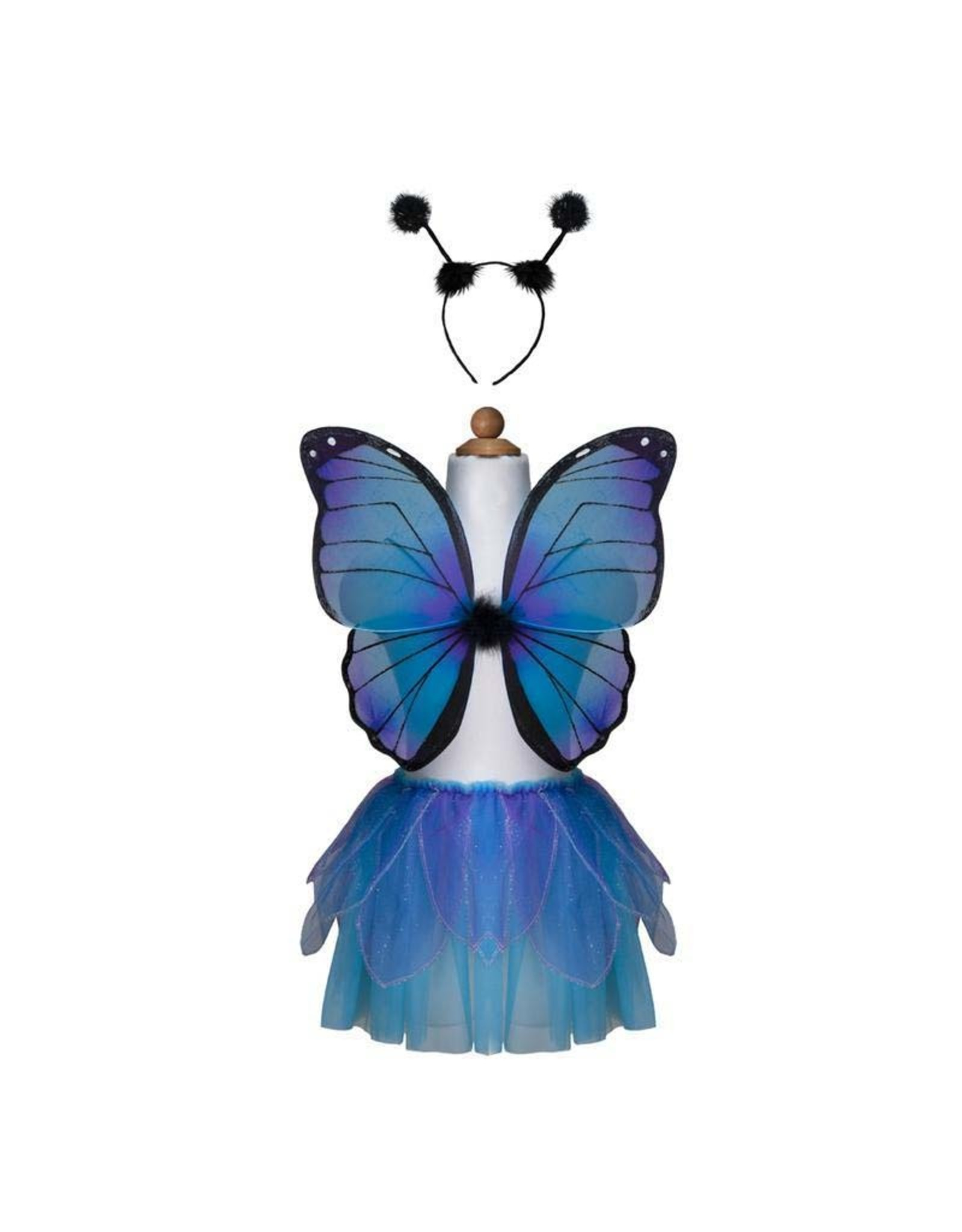 Great Pretenders Midnight Butterfly Set, Blue, Size 4-7 (3 pcs)