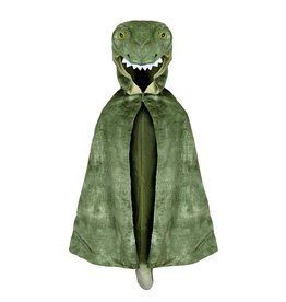 Great Pretenders T Rex Hooded Cape, Green, 3-5