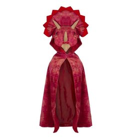 Great Pretenders Triceratops Hooded Cape, Red, 4-5