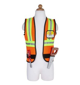 Great Pretenders Construction Worker - Work Vest, Hard Hat, Screw Driver, Saw, Goggles & Hammer in Garment Bag