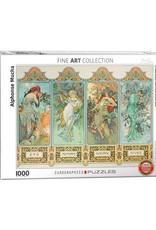 EuroGraphics 1000pc Four Seasons by Alphonse Maria Mucha