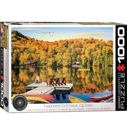 EuroGraphics 1000pc Lakeside Cottage Puzzle