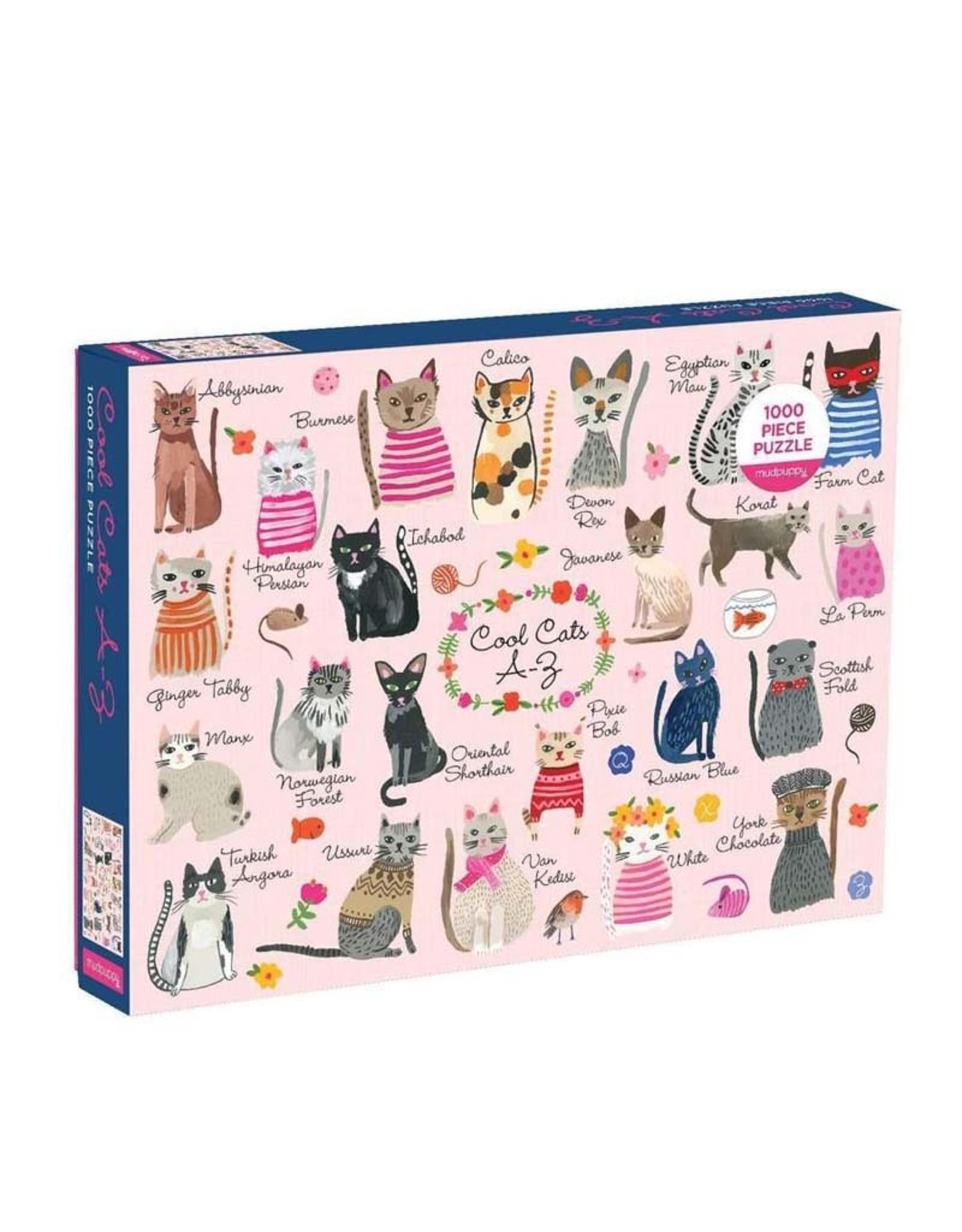 Galison 1000pc Puzzle Cool Cats A-Z
