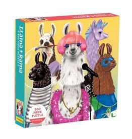 Galison 500pc Family Puzzle Llama-Rama