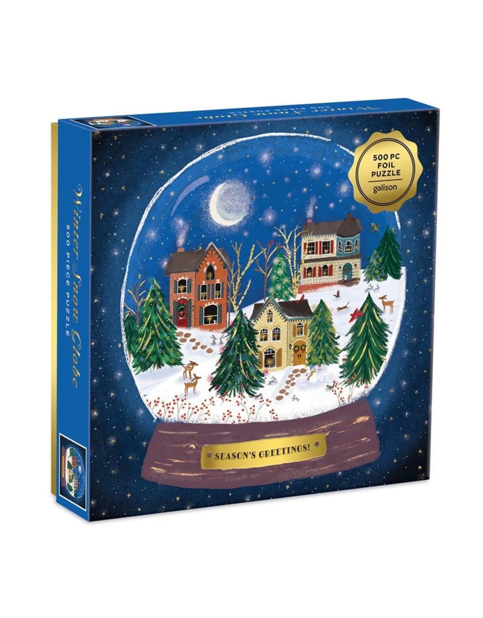 500pc Puzzle Winter Snow Globe