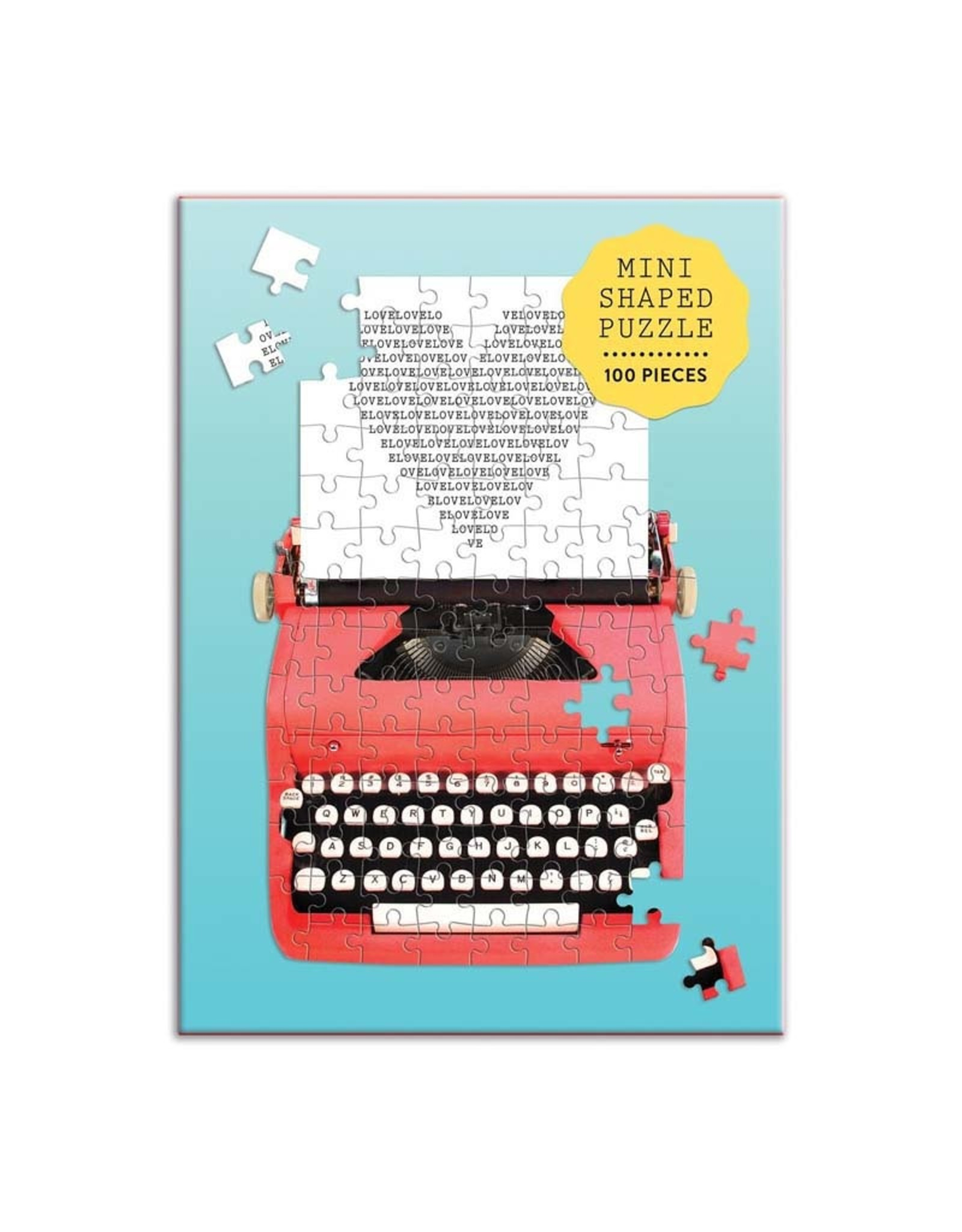 100pc Puzzle Shaped Mini Vintage Typewriter