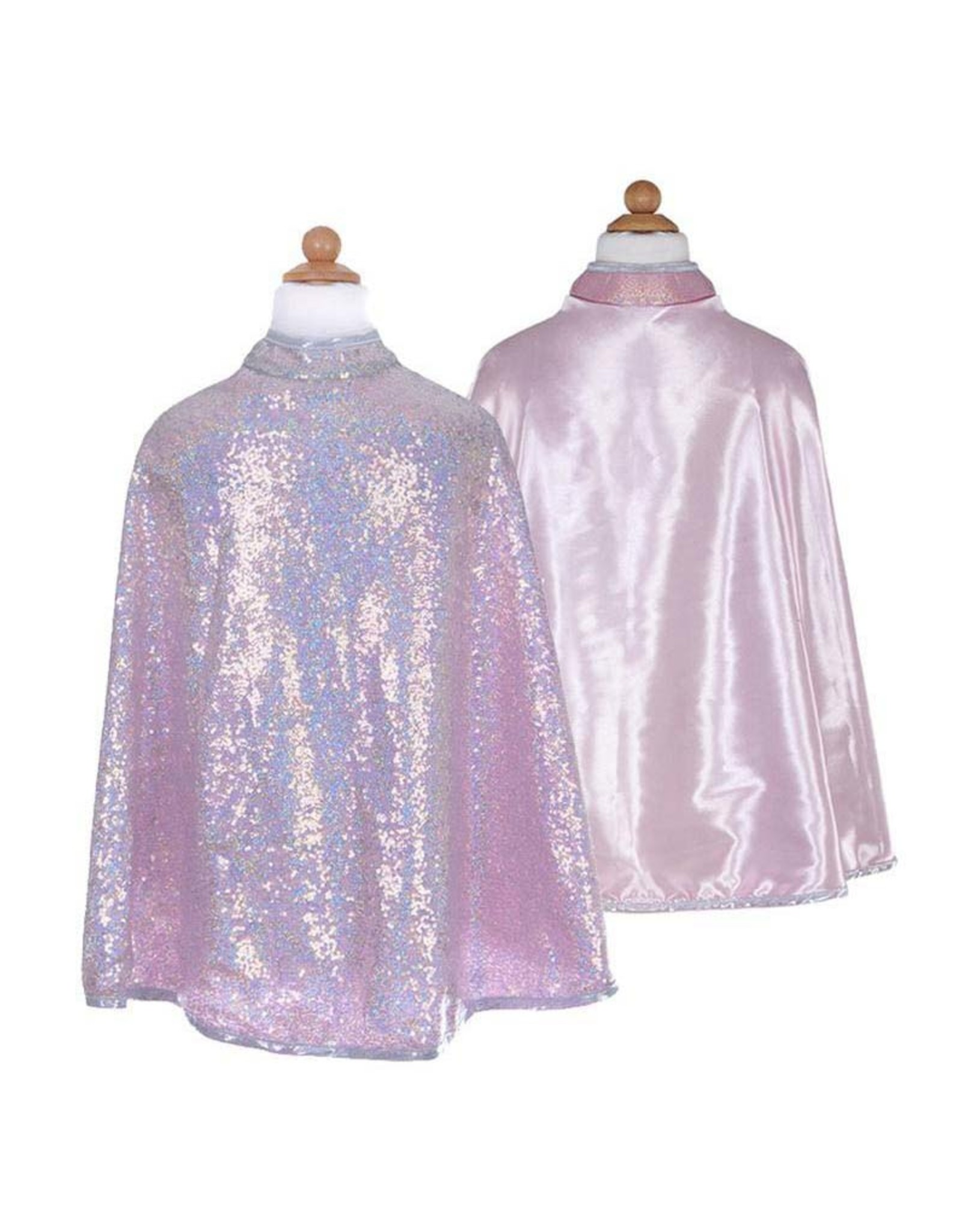 Great Pretenders Silver Sequins Reversible Cape, Size 5-6