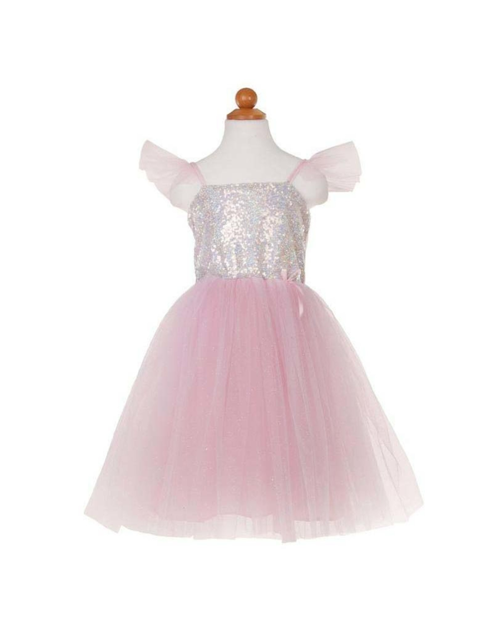 Great Pretenders Silver Sequins Princess Dress Size 5-6