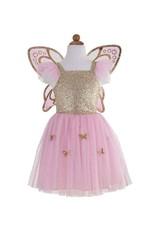 Great Pretenders Gold Butterfly Dress W/wings 5-7