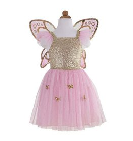 Great Pretenders Gold Butterfly Dress W/wings 5-7