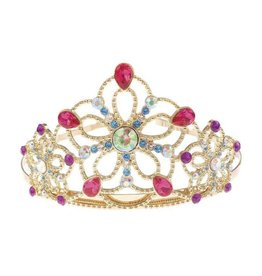 Great Pretenders Bejewelled Tiara, Gold Metal with Multi Gems