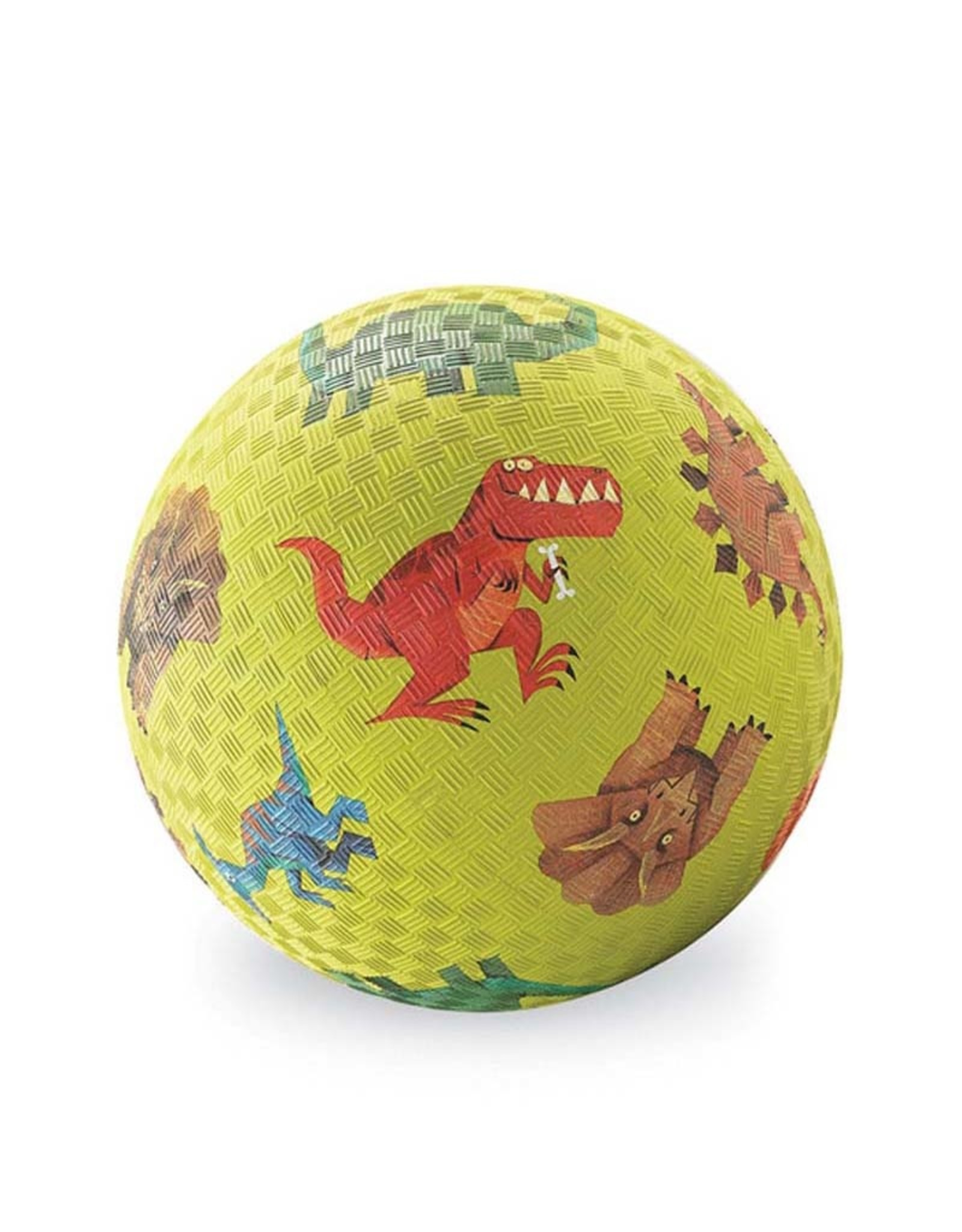 "Crocodile Creek 7"" Playground Ball Dinosaurs Green"
