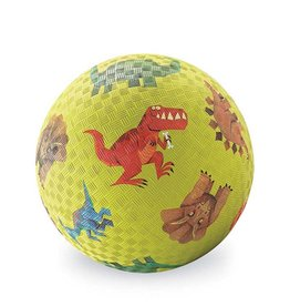"Crocodile Creek 7"" Playground Ball Dinosaurs Green"