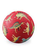 "Crocodile Creek 7"" Playground Ball/Dinosaurs Red NEW!"