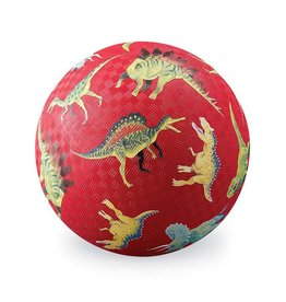 "Crocodile Creek 7"" Playground Ball/Dinosaurs Red NEW!"