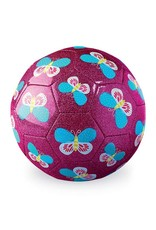 "Crocodile Creek 7"" Soccer Ball Glitter Butterfly"