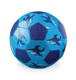 """Crocodile Creek 7"""" Soccer Ball Glitter Shark City"""