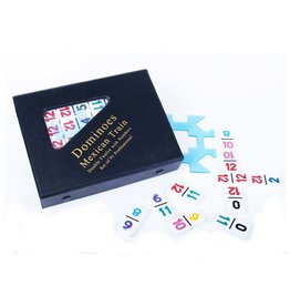 John Hansen Double 12 Mexican Train with Numbered Tiles