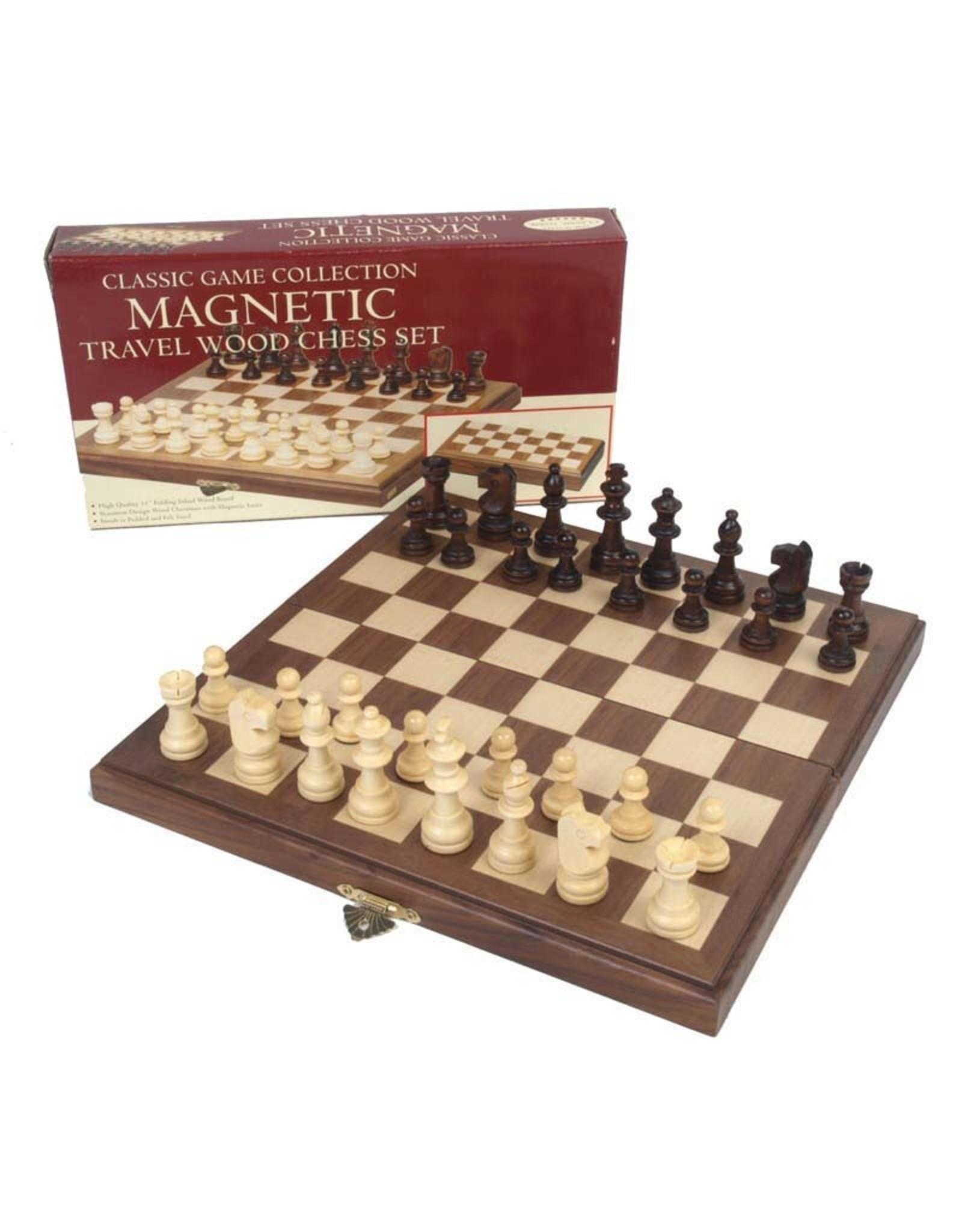 John Hansen 11x11 Travel Magnetic Walnut Chess Set