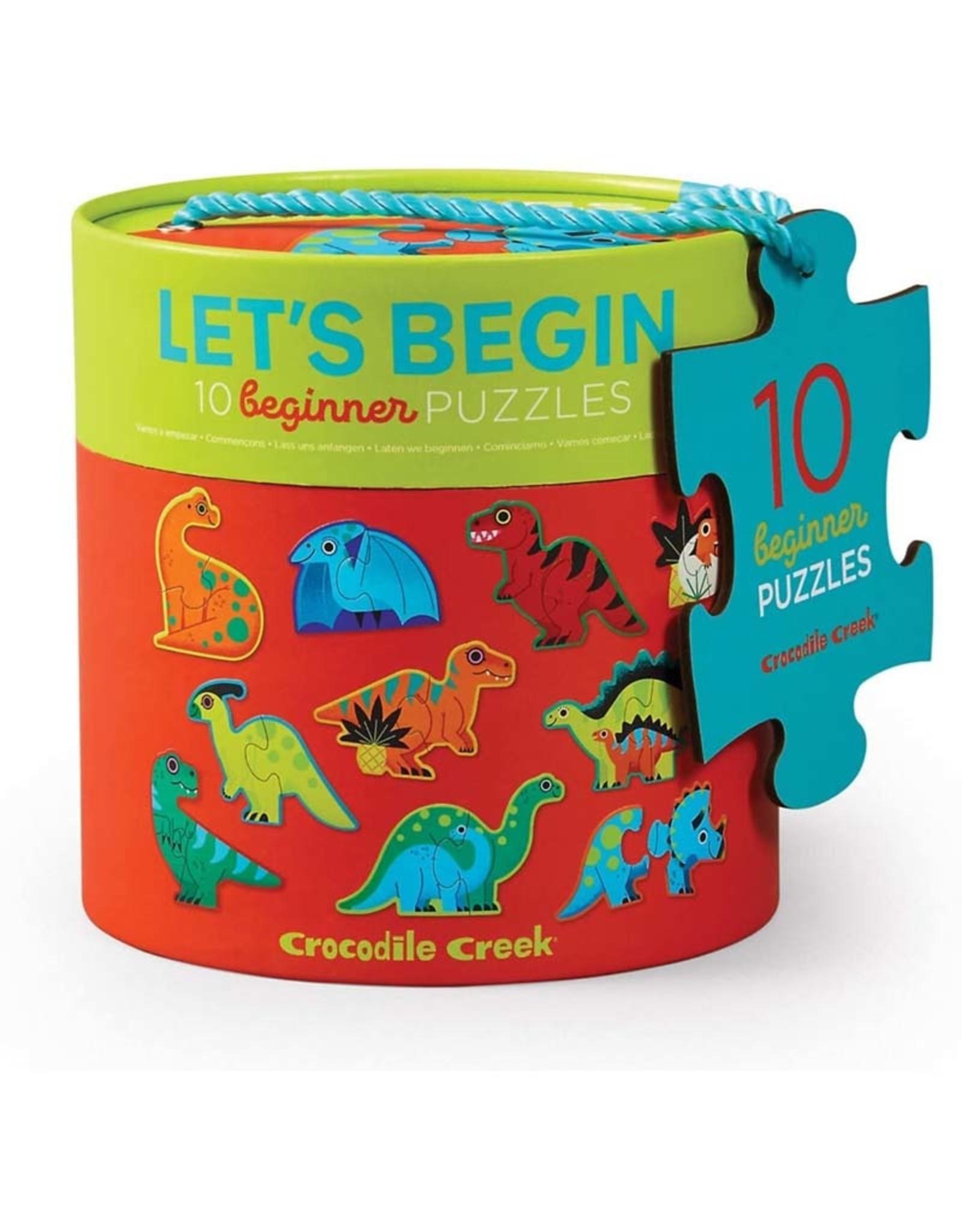 Crocodile Creek Let's Begin 2pc Puzzle Dinosaur
