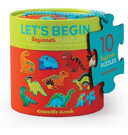 Crocodile Creek Let's Begin 2pc Puzzle Dinosaur