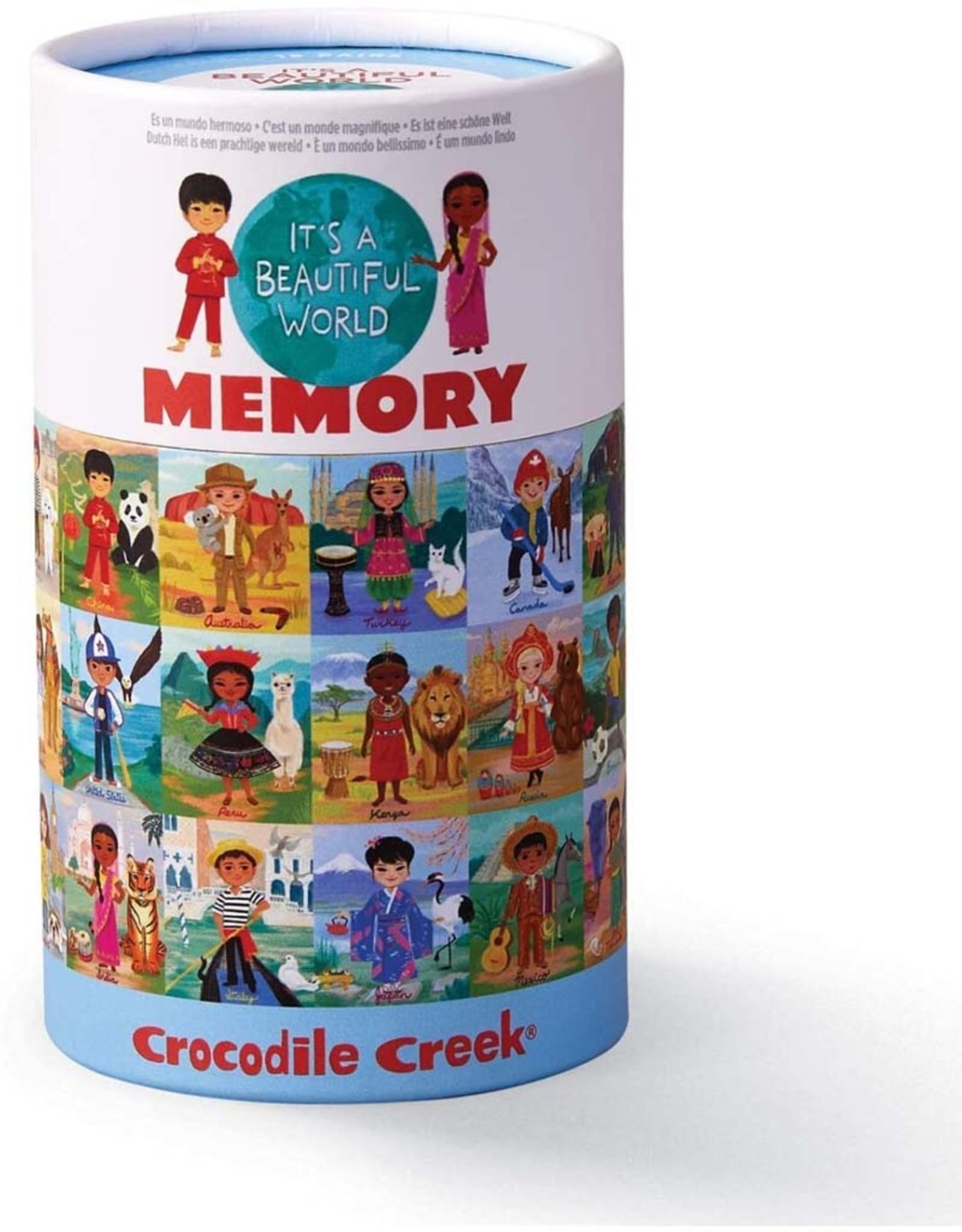 Crocodile Creek Canister Memory Game Beautiful World