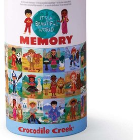 Crocodile Creek Canister Memory Game Beautiful World