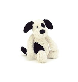 JellyCat Jellycat Bashful Black & Cream Puppy Small