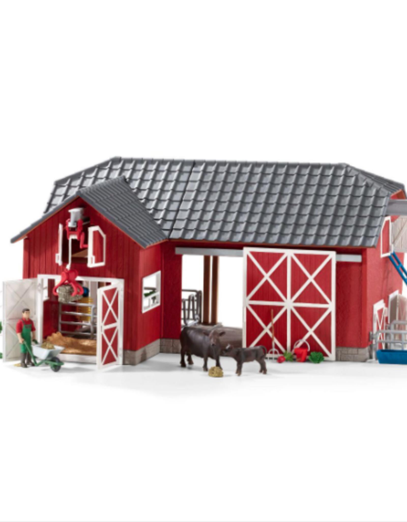 Schleich Schleich Large Red Barn with Animals and Accessories