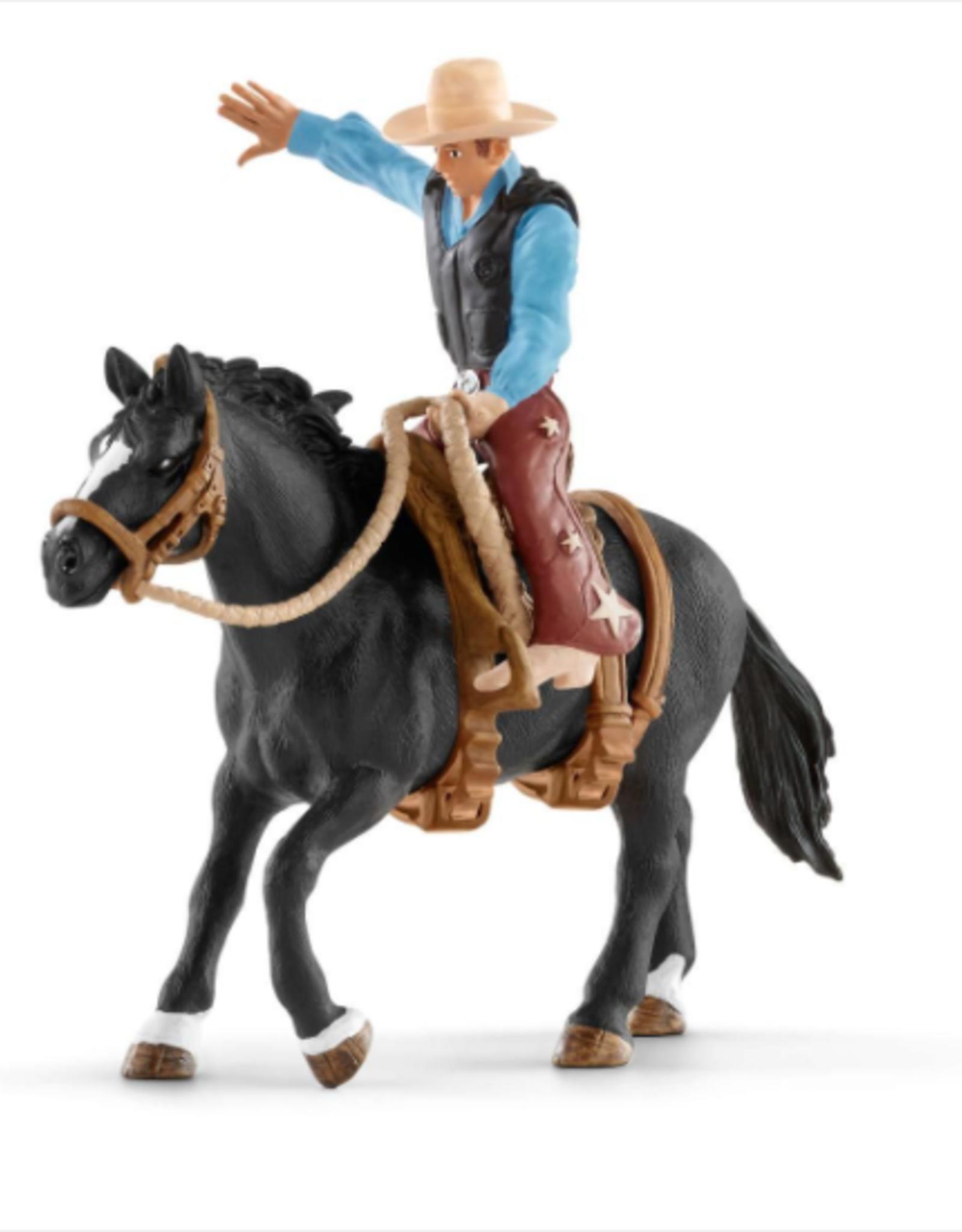 Schleich Saddle Bronc Rider W/Cowboy