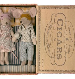 Maileg Maileg Mum & Dad Mice in Cigarbox