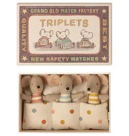 Maileg Maileg Triplets, Baby Mice in Matchbox