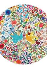 Eeboo 500pc Blue Bird, Yellow Bird Puzzle