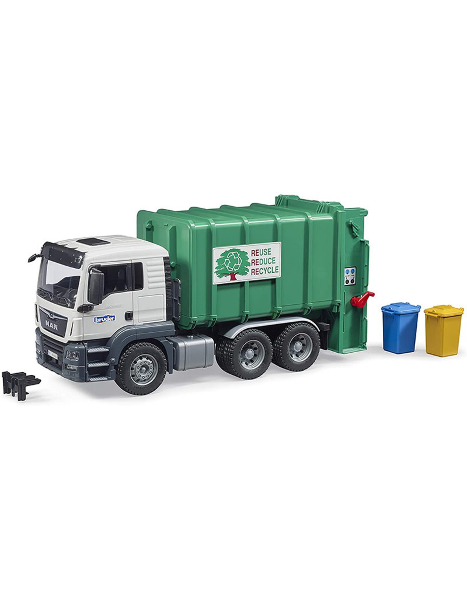 Bruder MAN TGS Rear Loading Garbage green/white