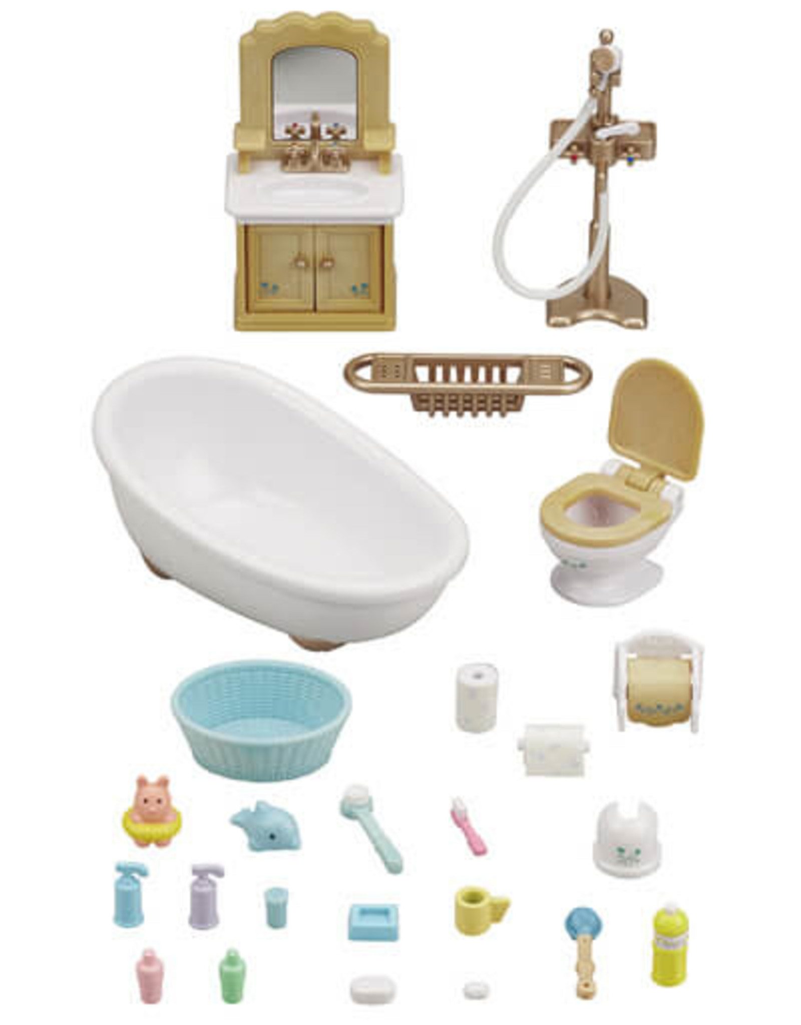 Calico Critters CC Country Bathroom Set