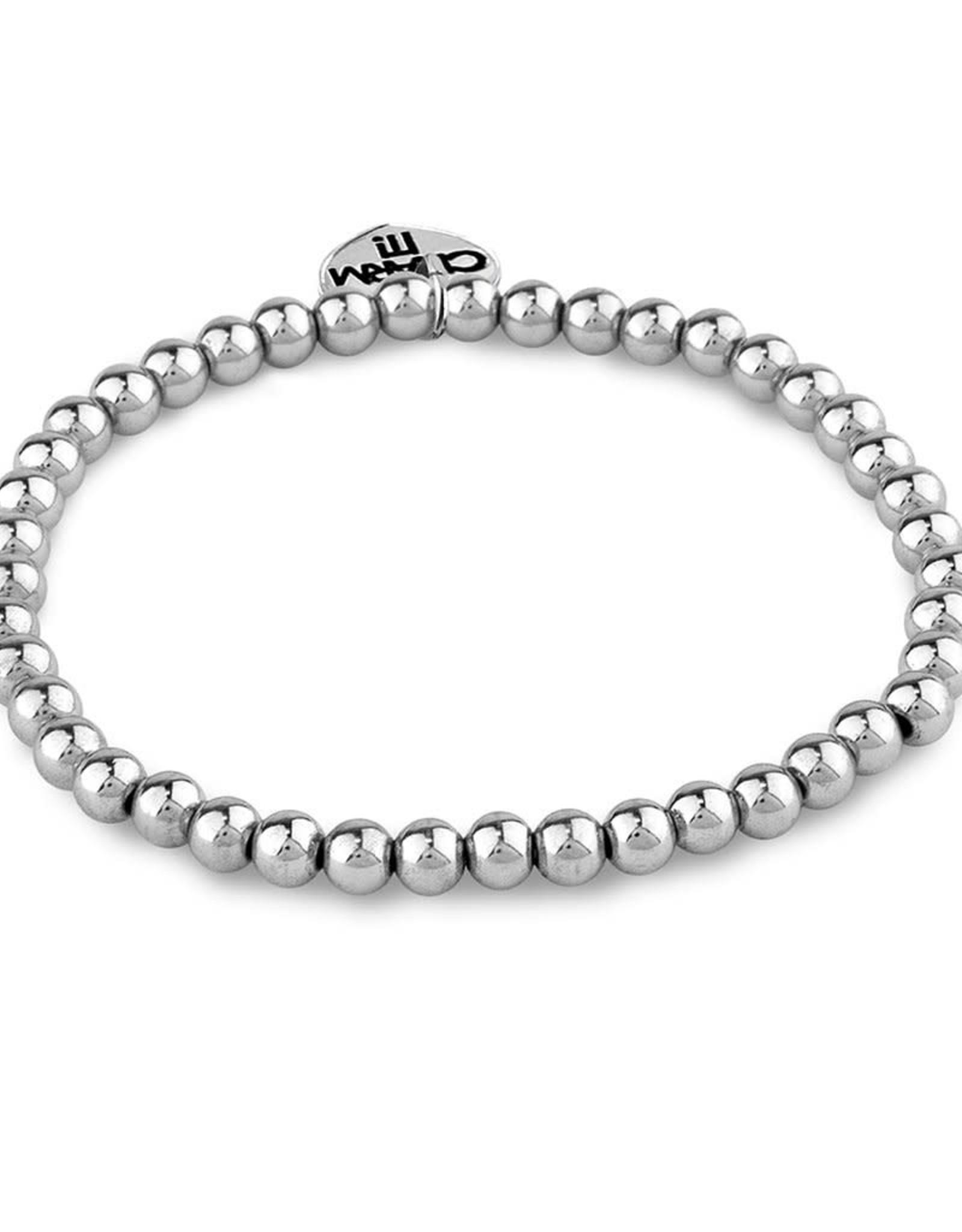 Charm It! CHARM IT! 4mm Silver Bead Bracelet