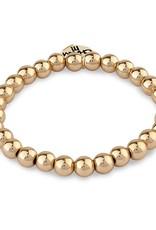 Charm It! CHARM IT! 6mm Gold Bead Bracelet