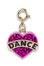 Charm It! Charm It! Gold Glitter Dance Heart