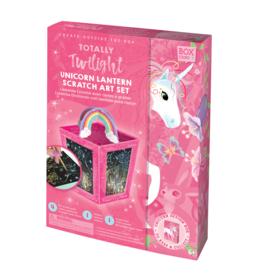 Handstand Kitchen Totally Twilight Unicorn Lantern Scratch Art Set