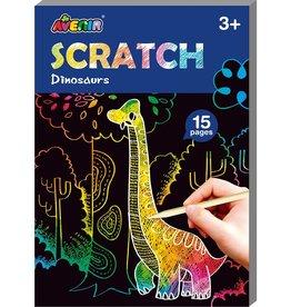 Dam Toys Scratch Mini Book / Dinosaurs