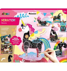 Dam Toys Scratch Jointed Puppets / Unicorns