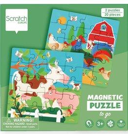 Dam Toys Magnetic Puzzle Book Farm