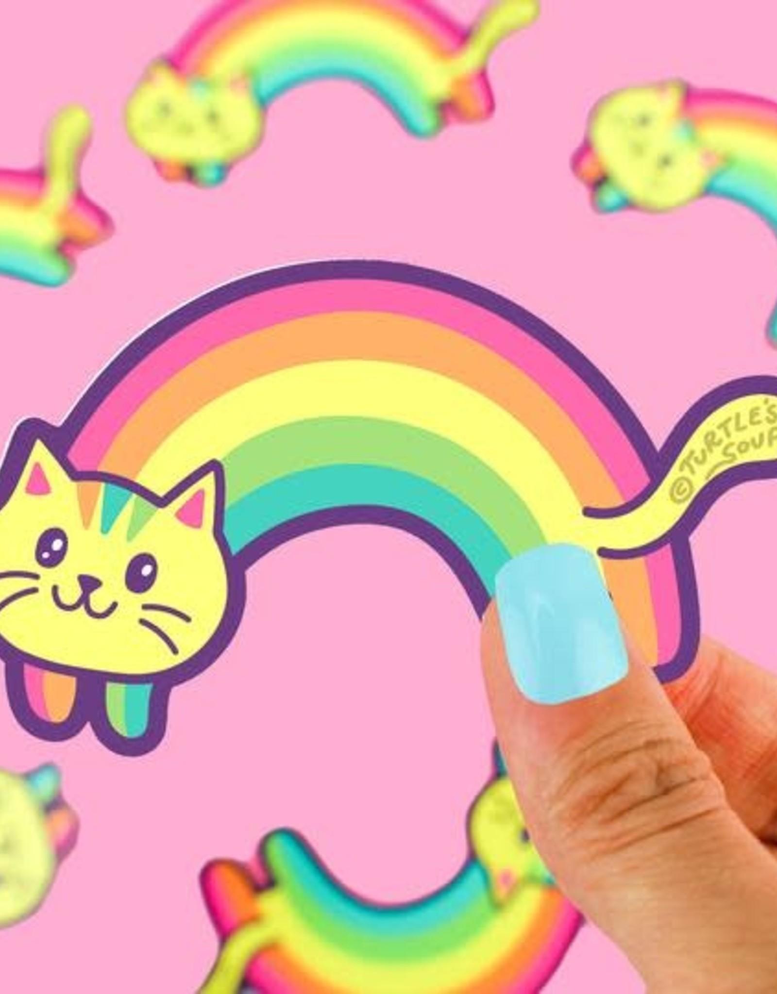 Turtle Soup Turtle Soup - Rainbow Cat Vinyl Sticker